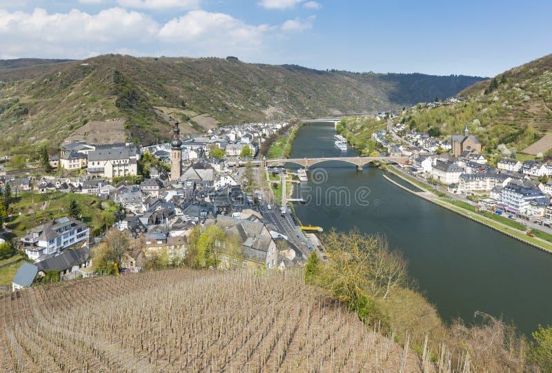 Cochem I Moselle Rzeczny widok, Niemcy zdjęcia royalty free