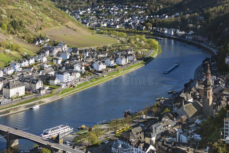 Cochem I Moselle rzeka, Niemcy obrazy royalty free