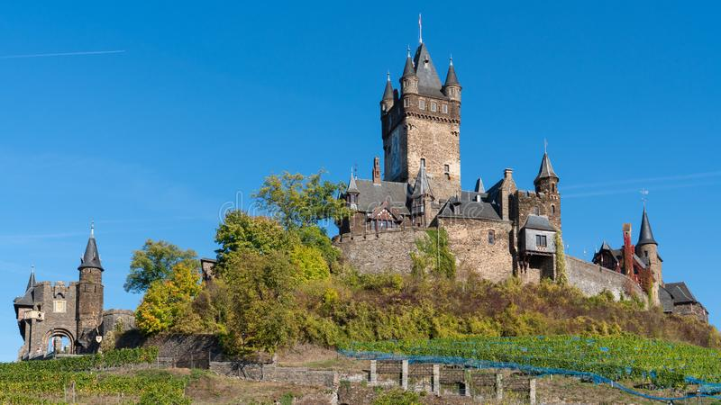 Cochem kasztel, Niemcy, Europa fotografia royalty free