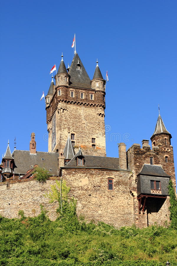 Cochem slott - torn royaltyfri bild