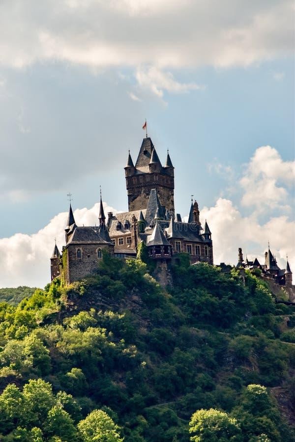 Cochem stad på Mosellen royaltyfri bild
