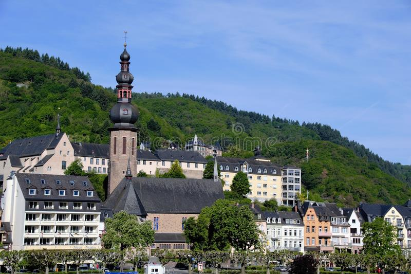 Cochem Tyskland på kusterna av floden Moselle royaltyfri foto
