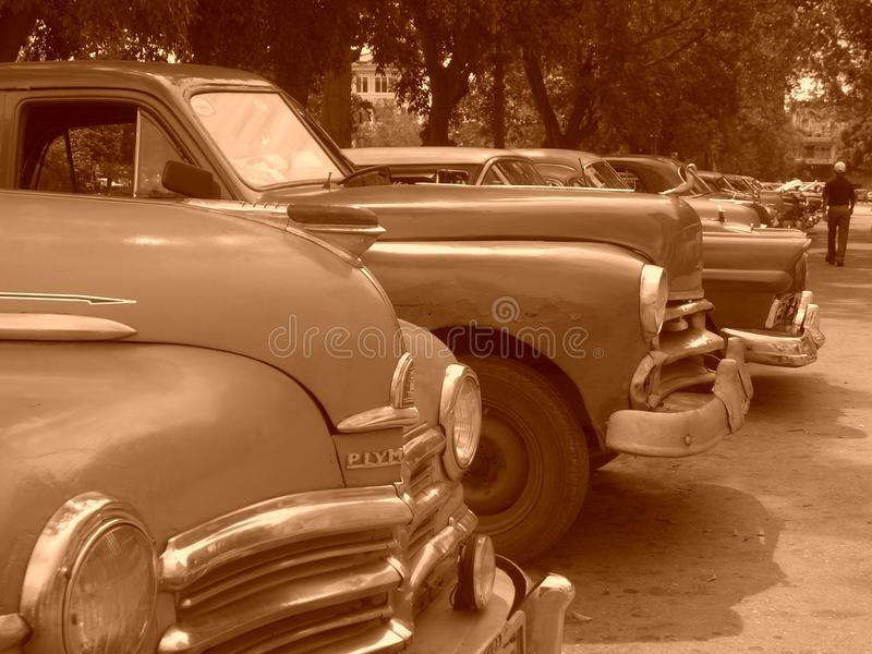 Coches cubanos fotos de archivo