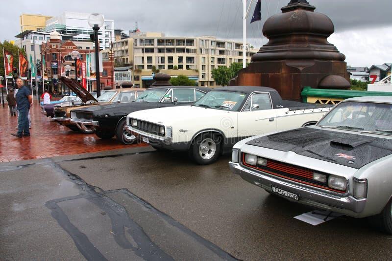 Coches de Chrysler y de Dodge foto de archivo