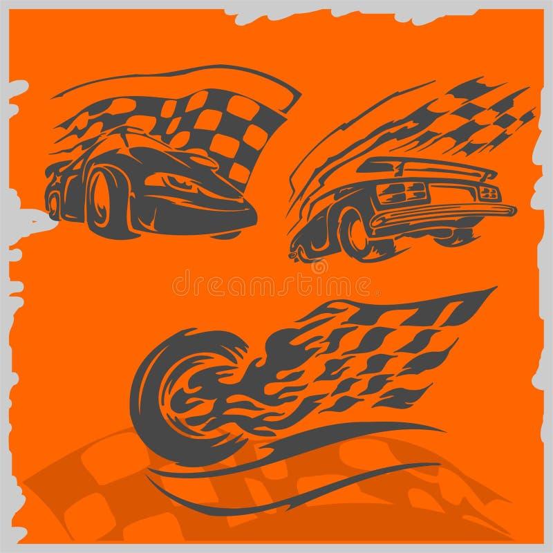 Coches de competición de la calle ilustración del vector