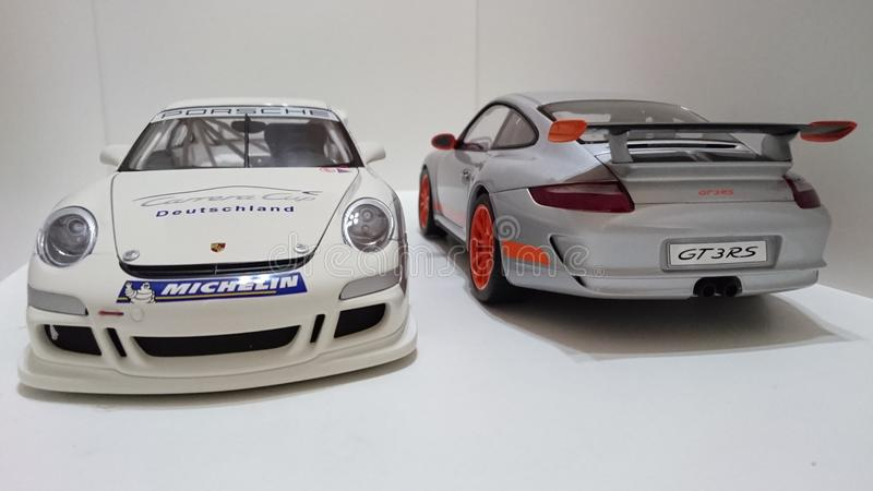 Coches de deportes de Porsche GT3 RS fotos de archivo libres de regalías