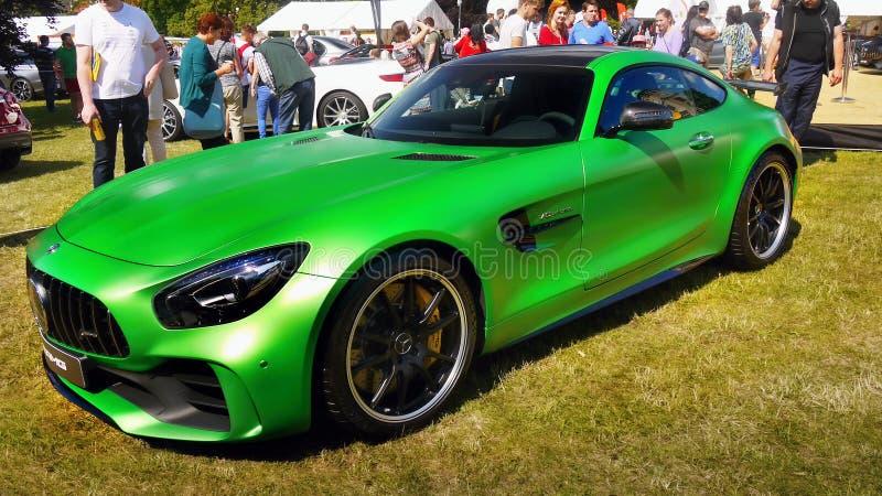 Coches de deportes, Mercedes AMG GT R foto de archivo libre de regalías