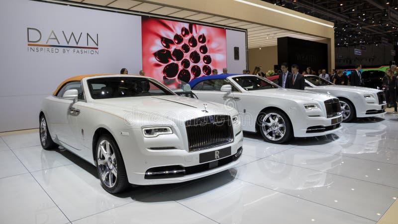 Coches de Ginebra Rolls Royce imagenes de archivo