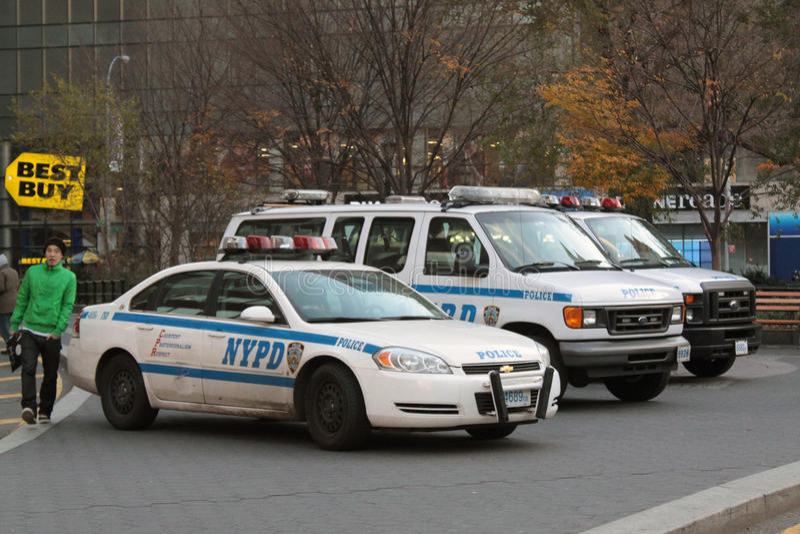 Coches de NYPD fotografía de archivo libre de regalías