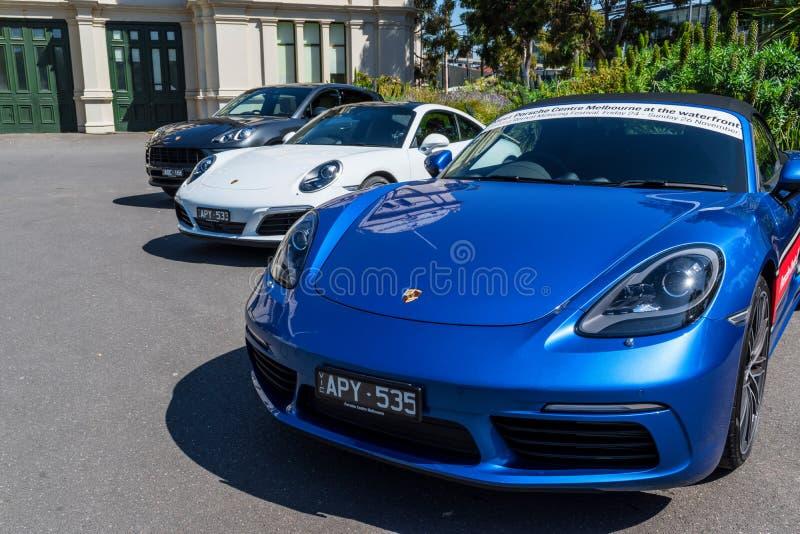 Coches de Porsche imagenes de archivo