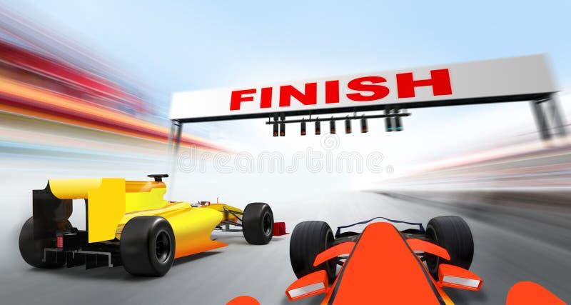 Coches del Fórmula 1 stock de ilustración