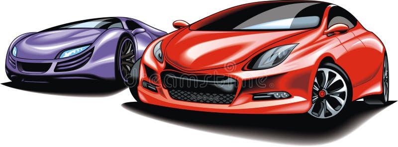 Coches del futuro (mi diseño original del automóvil) ilustración del vector