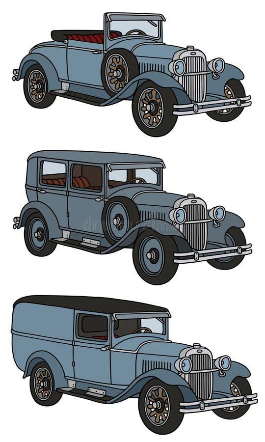 Coches del vintage ilustración del vector