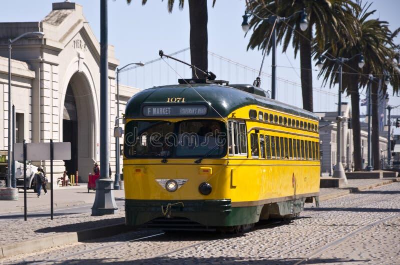 Coches históricos de la calle de San Francisco fotos de archivo libres de regalías