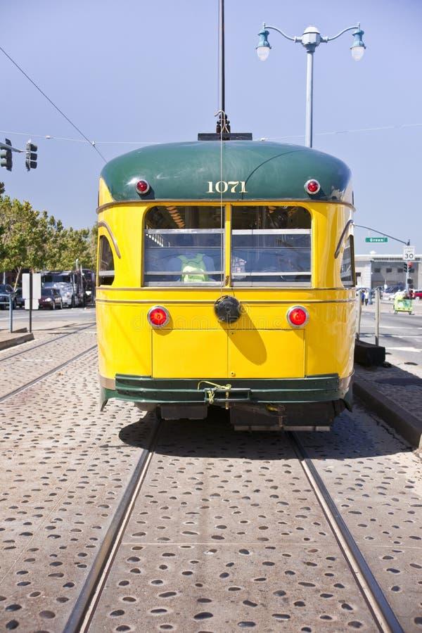 Coches históricos de la calle de San Francisco foto de archivo