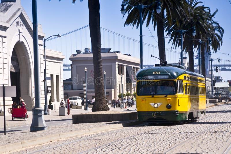 Coches históricos de la calle de San Francisco fotografía de archivo