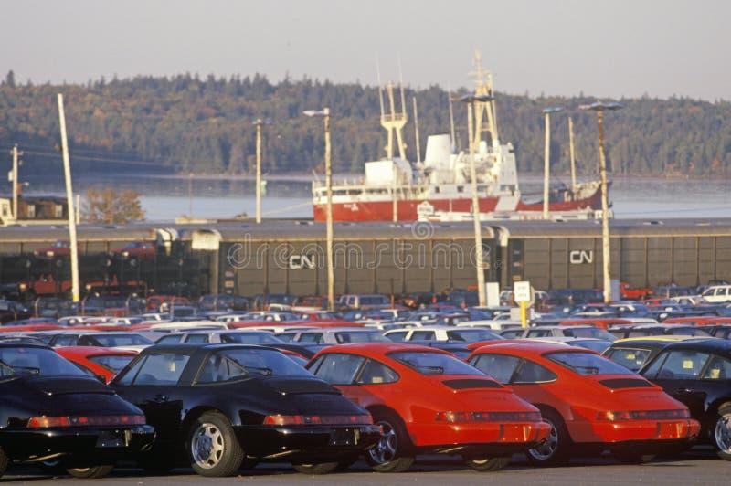 Coches importados en Halifax, Nova Scotia foto de archivo libre de regalías