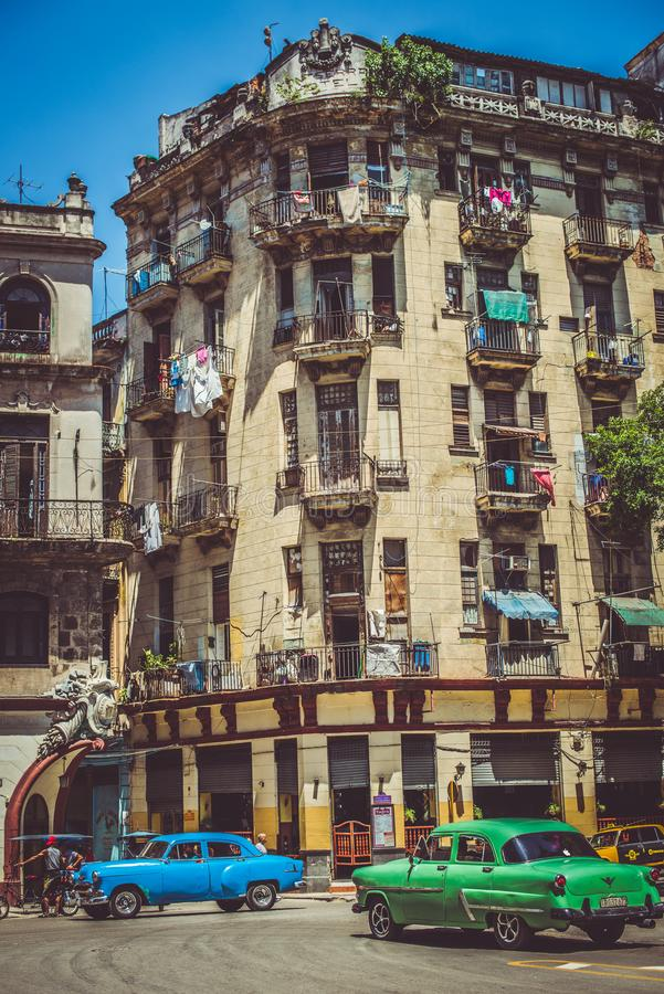 Coches viejos en Havana Cuba imágenes de archivo libres de regalías
