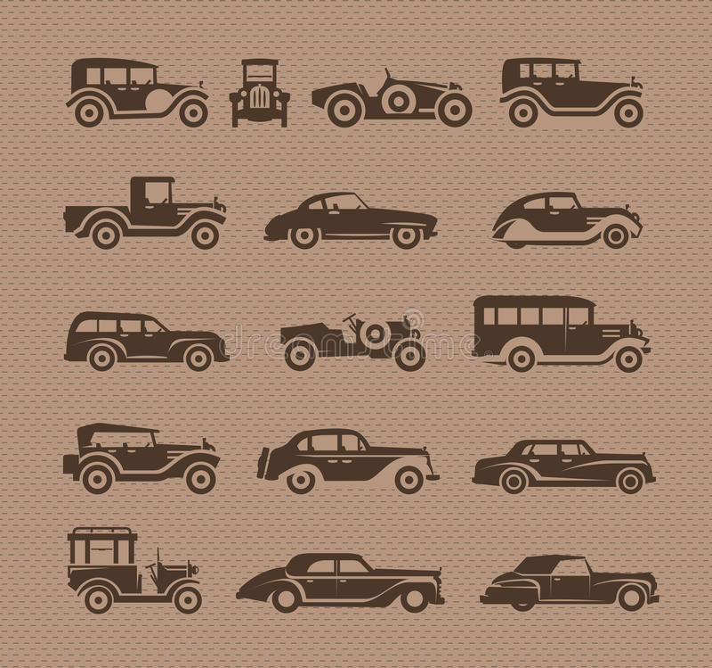 Coches viejos. Formato del vector ilustración del vector