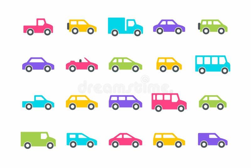 Coches y camiones ilustración del vector