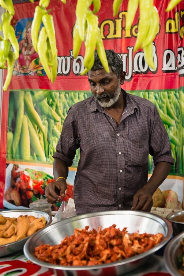 Cochin karnevalmarknad arkivbilder