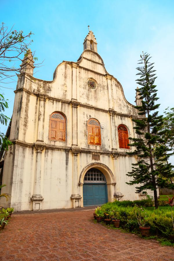Cochin St. Francis Church, India. St. Francis Church is the oldest european churches in India, where Vasco da Gama body buried, located in Fort Kochi in Cochin stock image