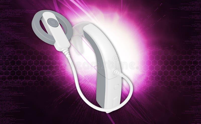 Cochlear implantat vektor illustrationer