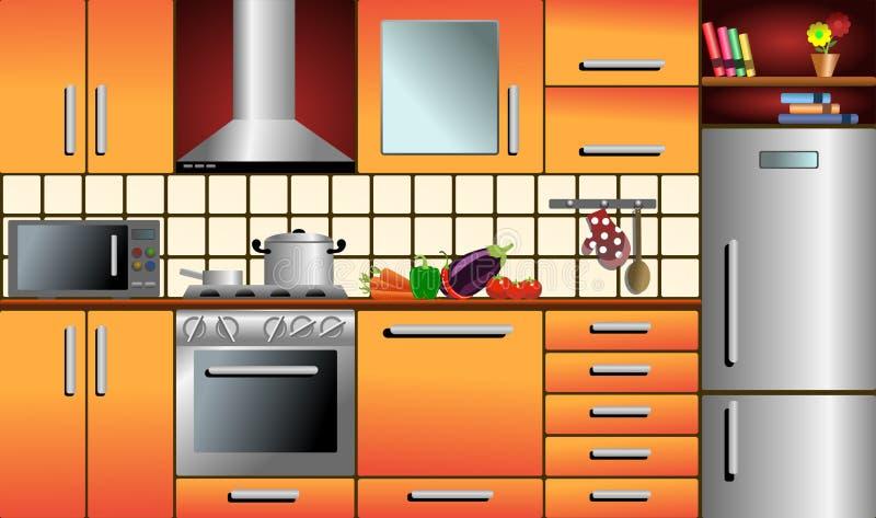 Cocina ilustración del vector