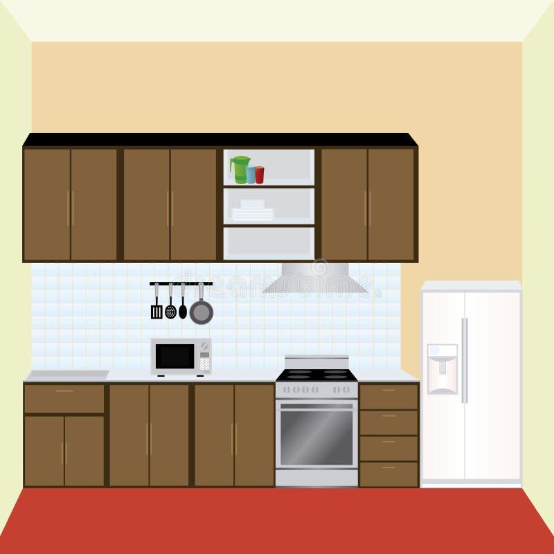 Cocina stock de ilustración
