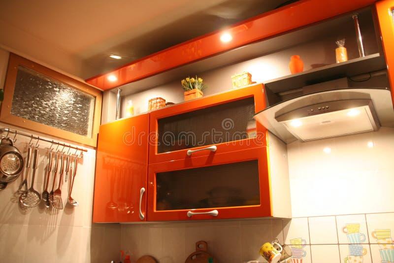 Cocina anaranjada fotos de archivo