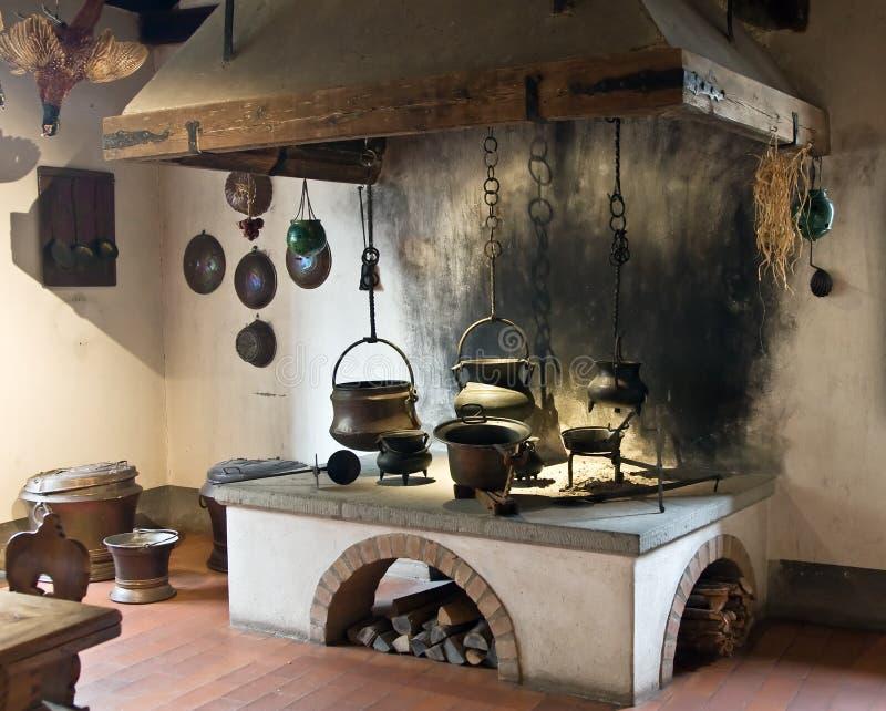 Cocina antigua imagen de archivo. Imagen de horno, cocinero - 7346763