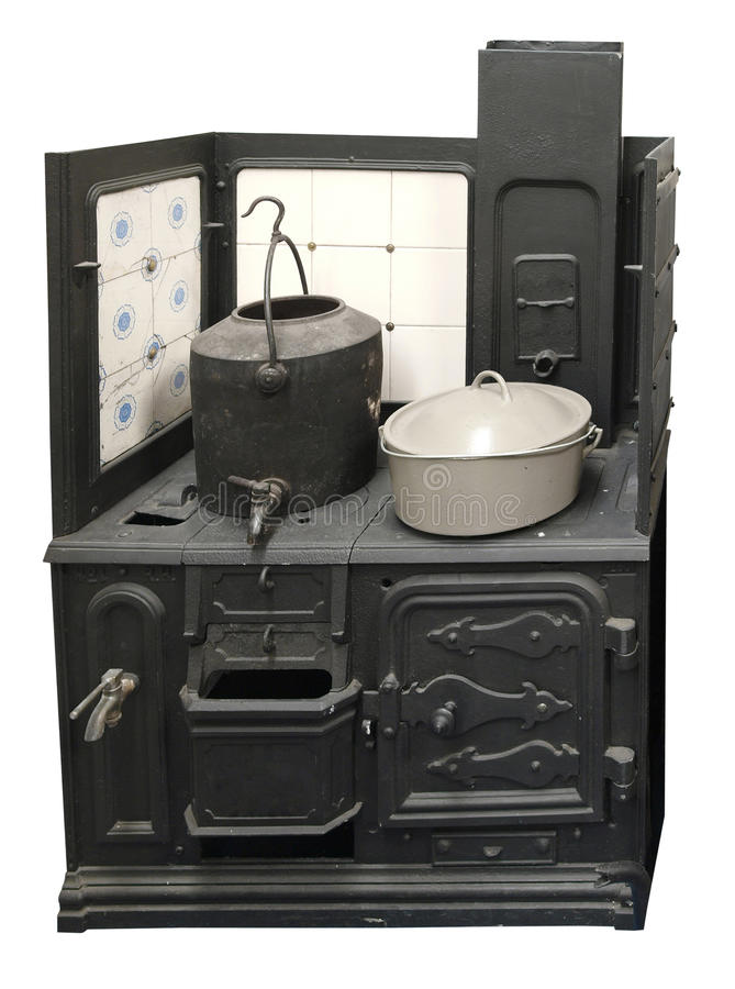 Cocina antigua del carbón fotografía de archivo libre de regalías