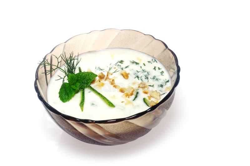 Cocina búlgara - tarator foto de archivo