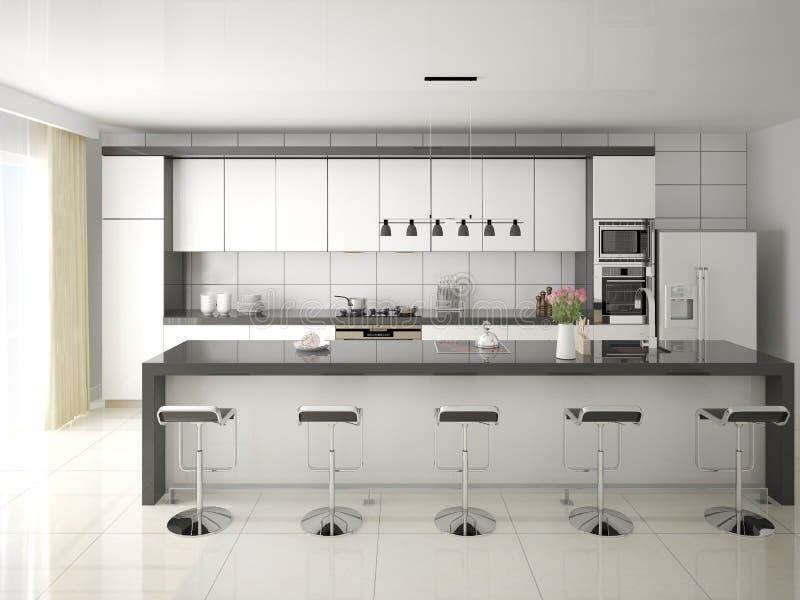 Cocina blanca moderna fotos de archivo libres de regalías
