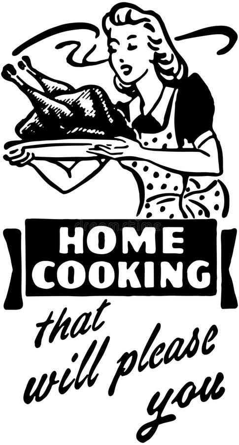 Cocina casera 3 ilustración del vector