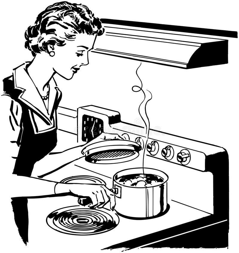 Cocina casera ilustración del vector