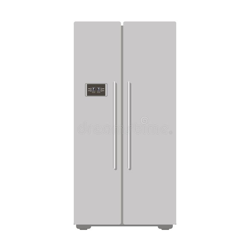 Cocina cerrada gris del refrigerador del ejemplo para la comida - vector la acción Freser, aparato electrodoméstico, ración diari libre illustration