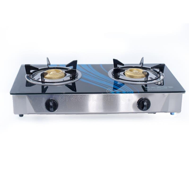 Cocina de cristal del gas de alto horno imagen de archivo