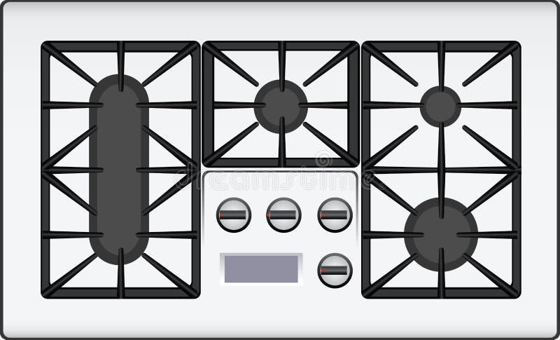 Cocina de gas libre illustration