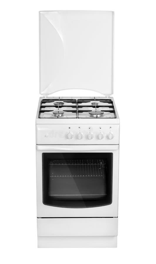 Cocina de gas blanca fotos de archivo libres de regalías