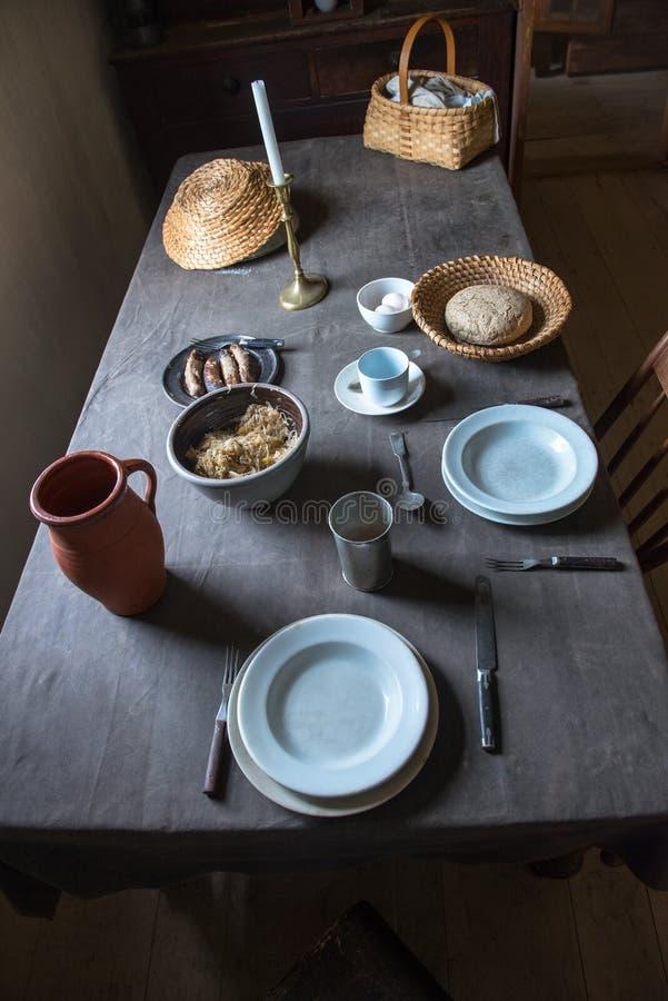 Cocina de la granja del país viejo, nostalgia fotografía de archivo libre de regalías
