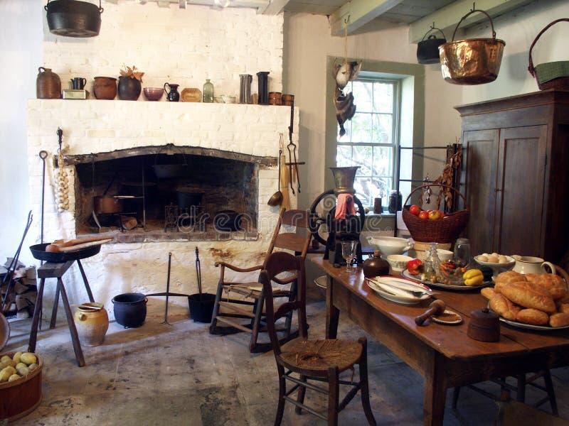 Cocina de la plantación foto de archivo libre de regalías