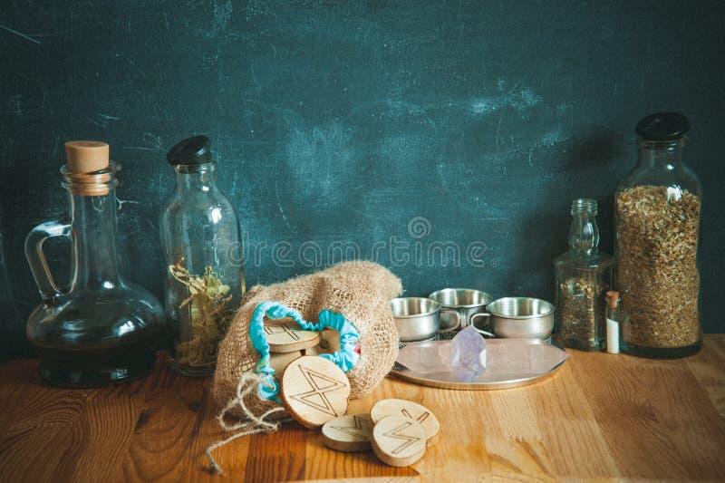 Cocina de las brujas foto de archivo