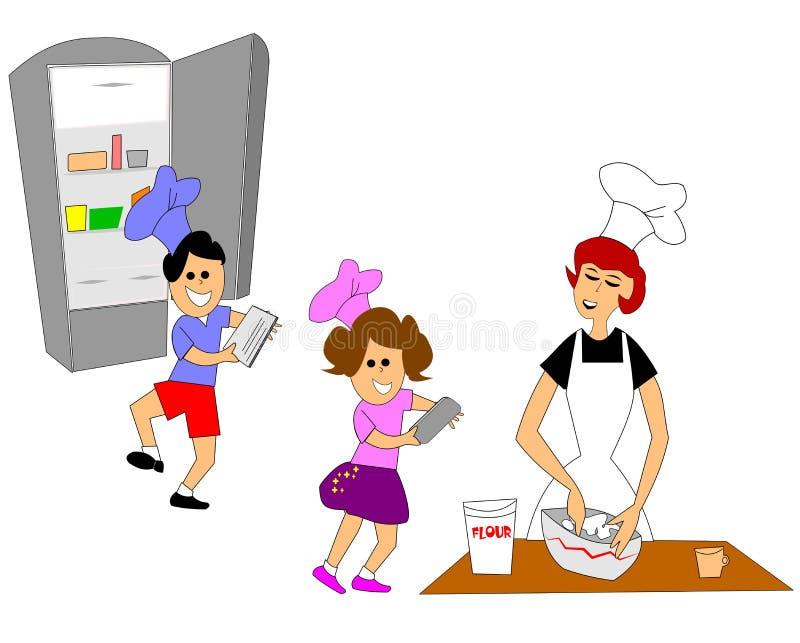 Cocina de las mamas libre illustration
