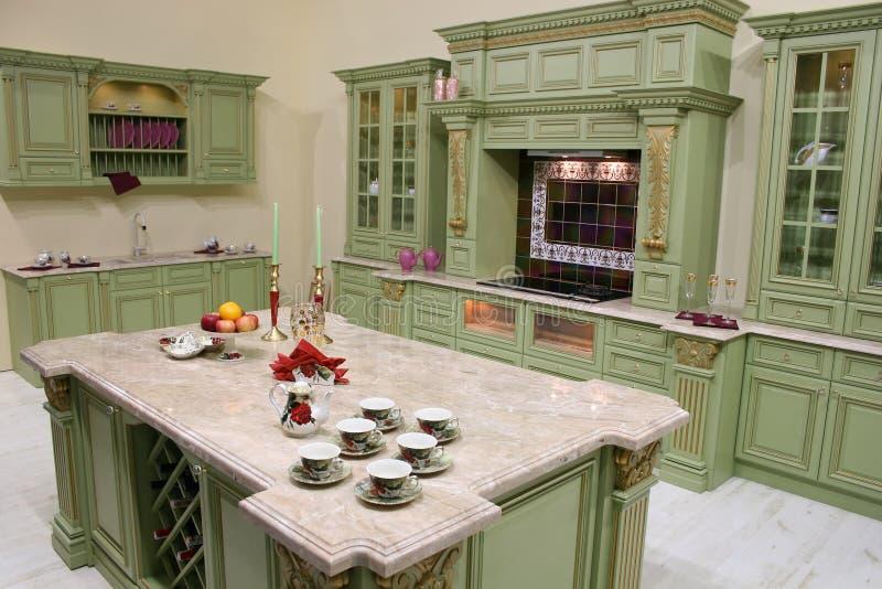 Cocina de lujo foto de archivo libre de regalías