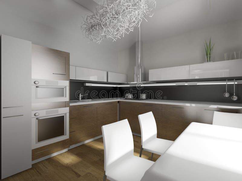 Cocina del diseño moderno ilustración del vector