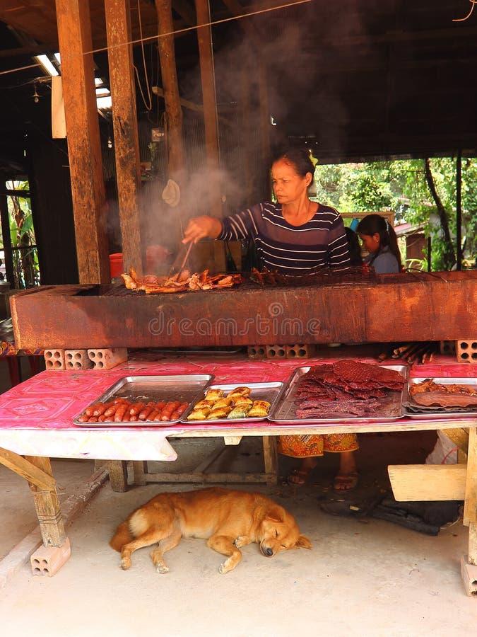 Cocina del Khmer para los turistas fotografía de archivo