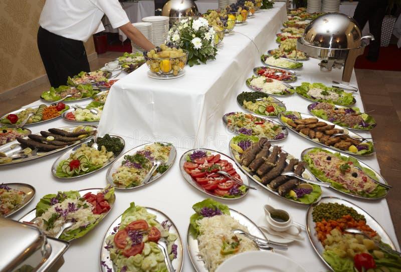 Cocina del restaurante del alimento del abastecimiento foto de archivo libre de regalías