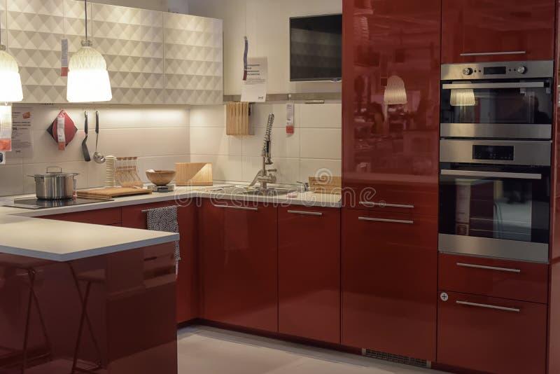 Cocina En La Tienda De Muebles Ikea Foto de archivo editorial ...