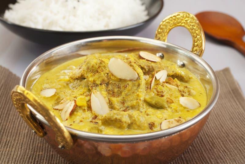 Cocina india de la comida del alimento del curry de Pasanda del cordero foto de archivo
